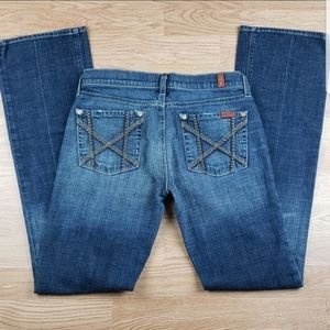 7 For All Mankind MIA Studded Bootcut Jean Sz 28